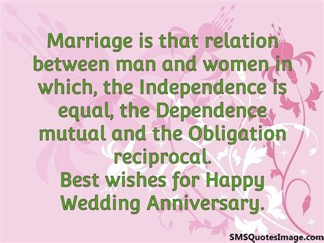 Wedding Anniversary Quotes For And In In by Happy Wedding Anniversary Marriage Sms Quotes Image