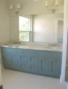 Blue vanity contemporary bathroom benjamin moore van