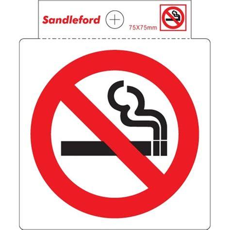 no smoking sign bunnings sandleford 75mm no smoking symbol self adhesive sign