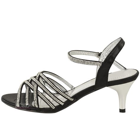 low bridal shoes womens diamante wedding low kitten heel bridal