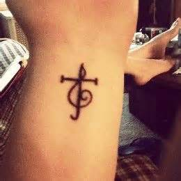 treble clef cross tattoo 18 best images about on