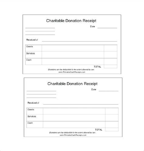 Receipt Book Template Free by Receipt Book Template Free Charitable Donation