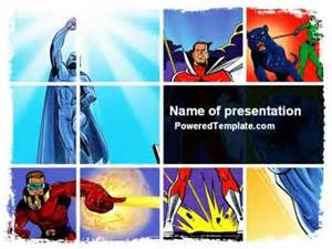 comic book presentation template superheroes powerpoint template by poweredtemplate