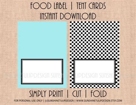 food cards for buffet table template printable blank table tent cards printable food buffet