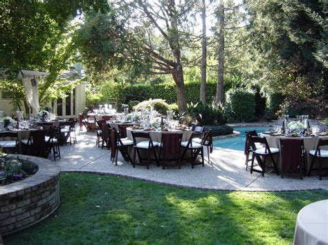 home decorating ideas for wedding back yard wedding reception