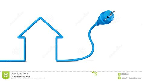 blue wires in electricity house stock photos image 36690333