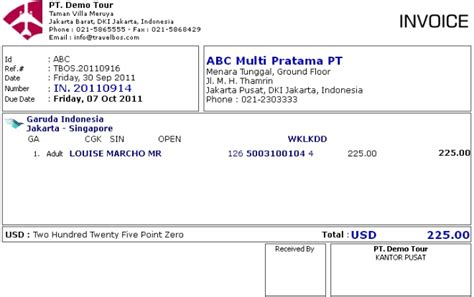 contoh invoice in 20110914 skenario 2 ideas for the