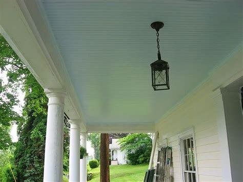 my front porch ceiling keeps the wasps away benjamin s morning sky blue home