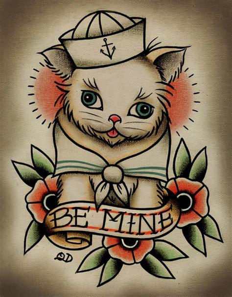 tattoo parlor prints items similar to 8x10 tattoo print be mine kitten on etsy