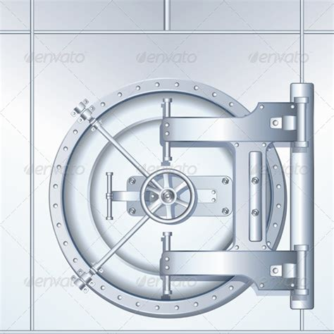 illustration of bank vault door graphicriver