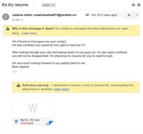 Resume Zip Virus Resume Thanks Virus
