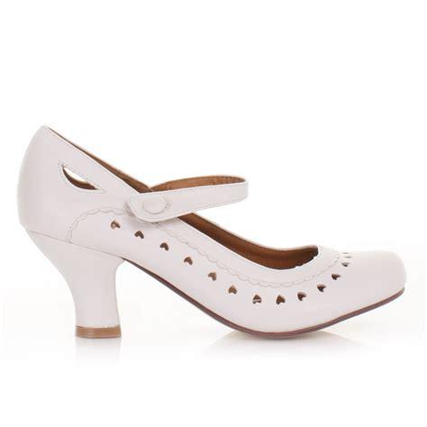 womens white matt low heel office work