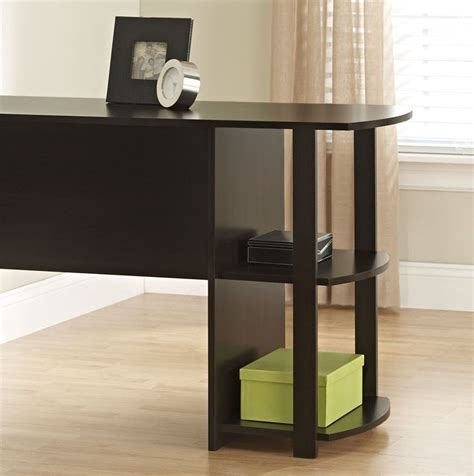 L Shaped Office Desk Cheap Free Shipping Cheap Furniture Office L Shaped Computer Desk Cherry Brown New Desks Home