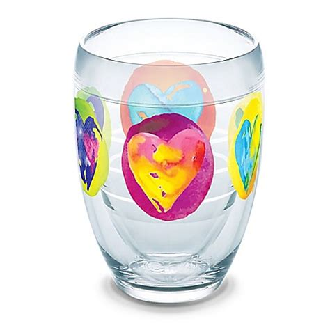 colored stemless wine glasses buy tervis 174 multi colored hearts 9 oz stemless wine glass