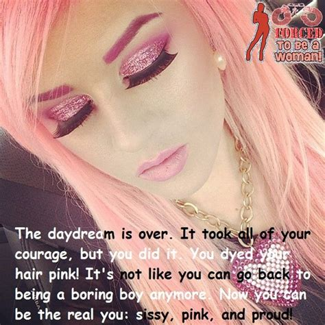 hair feminization fantasy becoming a pink blonde babe sissy pinterest blondes