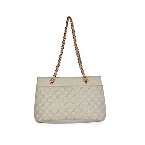 promo chopard white chopard quilted calfskin leather tote white luxity