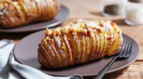bacon cheese potato bake recipe baked potato recipe with cheese and bacon purewow
