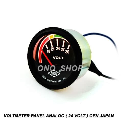 Voltmeter Untuk Panel jual beli voltmeter panel analog 24 volt japan