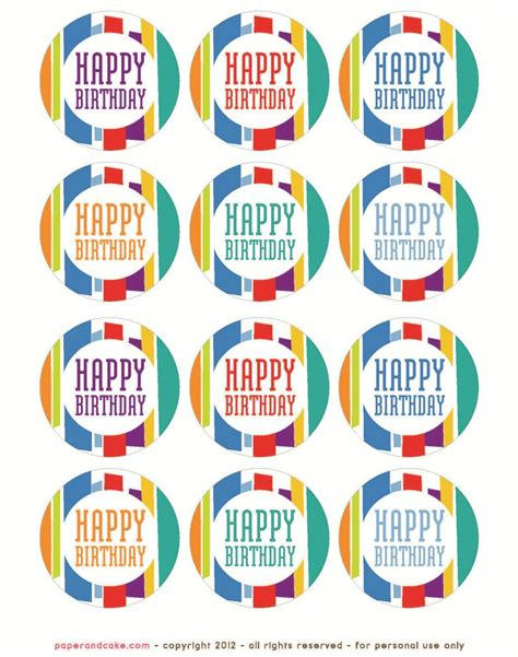 printable birthday supplies colorful birthday supplies free printable honest to nod