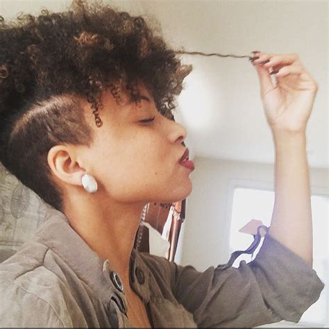 curly in back featered on the sides 25 best ideas about undercut natural hair on pinterest