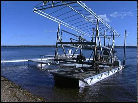 boat lift barge quot the barge quot www dockandliftservice youtube