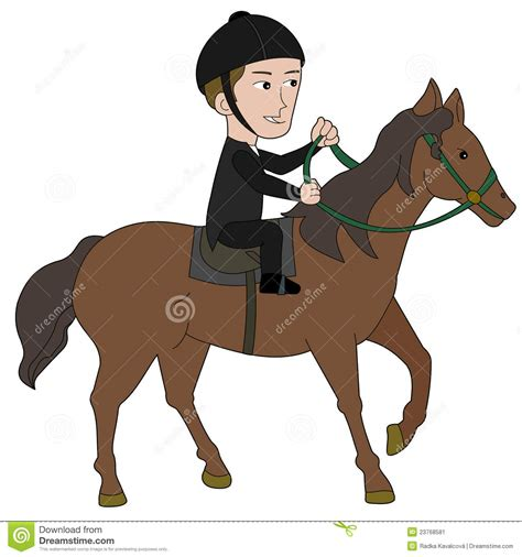 Horseback Riding Cartoon Stock Image Image 23768581