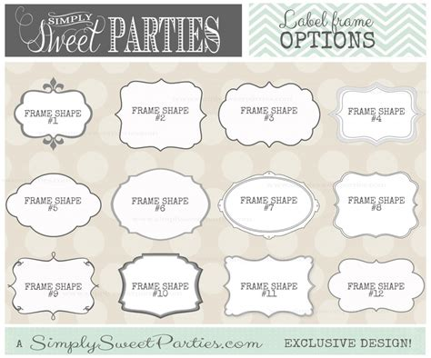 Fancy Labels Printable Free