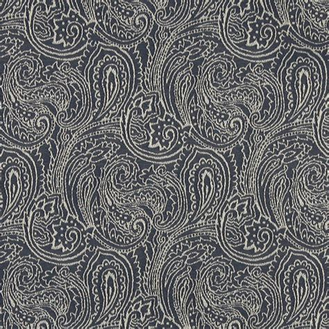 Upholstery Fabrics by Navy Blue Traditional Abstract Paisley Woven Upholstery