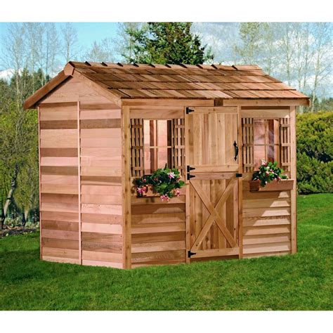 cedar shed cabana cedar playhouse outdoor playhouses at