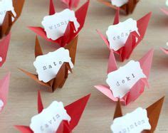 Origami Name Card - set of 50 standing blank wedding place cards cards