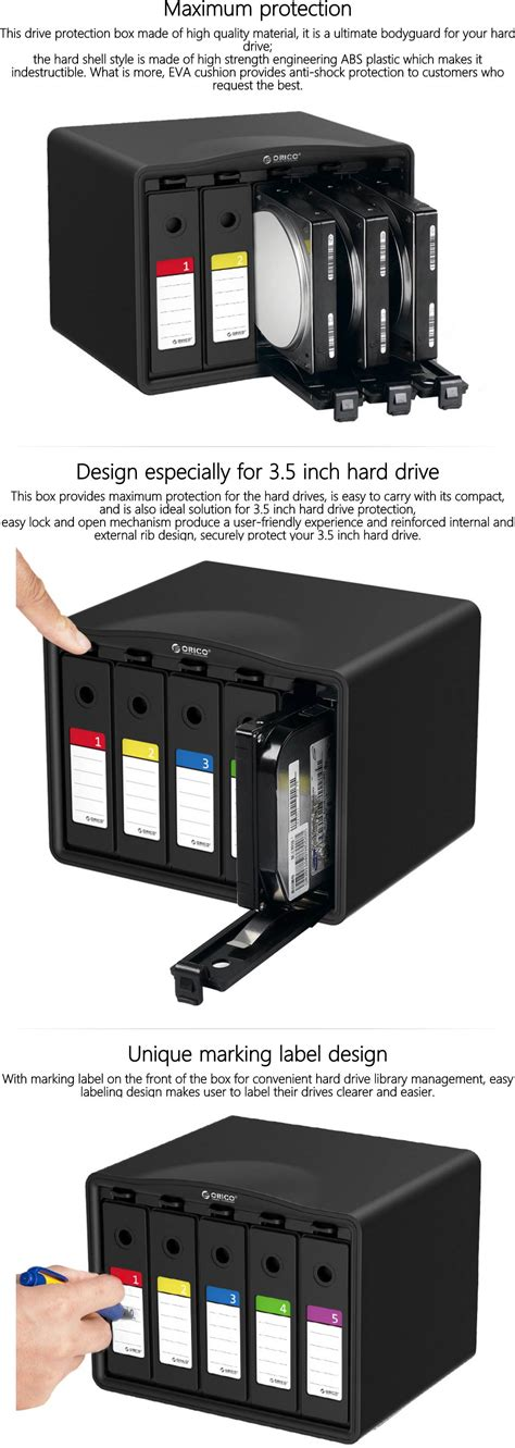 Orico 1 Bay 3 5 Hdd Protection 5pcs Php 5s Gray C9s869 orico phb35 5 5 bays 3 5 inch tool free drive