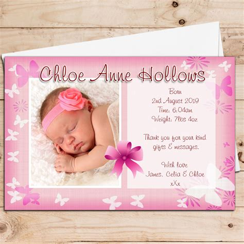 birth announcement photo card template birth announcement cards baby announcement cards