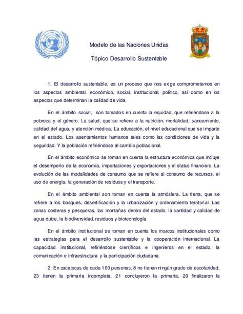 Modelo Curriculum Naciones Unidas postura oficial zacatecas