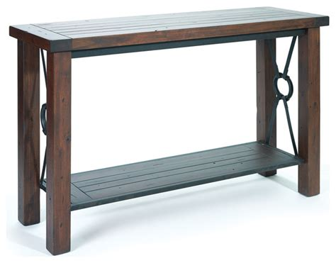 wood and metal sofa table rustic console tables
