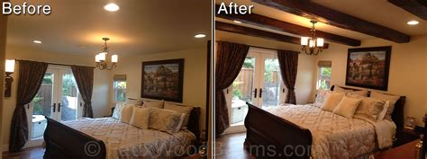 Dining Room Makeovers bedrooms with open beam ceilings faux wood workshop