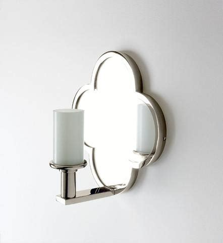 Sconces Mounted On Mirror lawson wall mounted clover quadrifoil single arm mirror sconce waterworks onli swing arm
