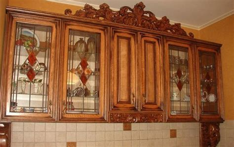 Stained Glass Kitchen Cabinet Doors Decorating With Glass Cabinets Doors Brings Light Into Modern Kitchen Designs
