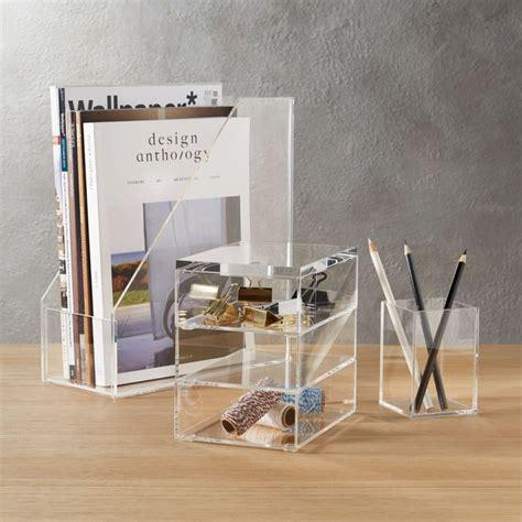 acrylic desk accessories cb2