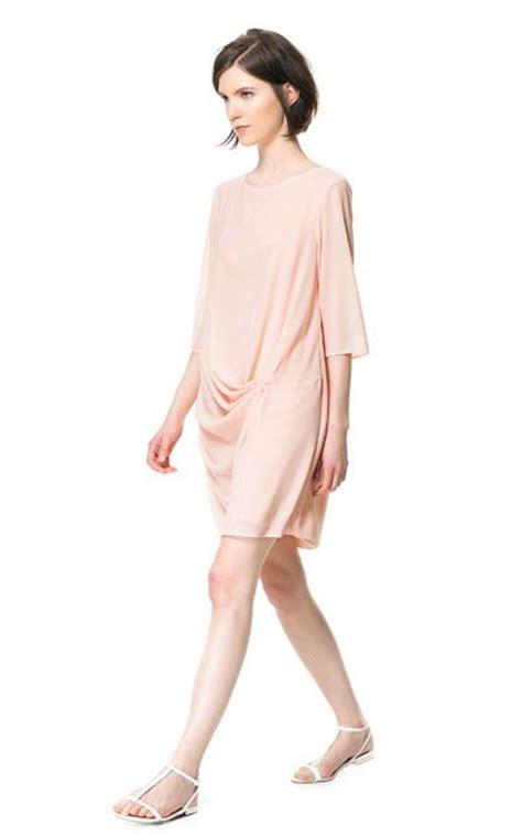 zara draped dress draped dress dresses woman zara united states