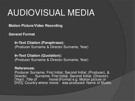 apa format dvd apa citation style 6th edition