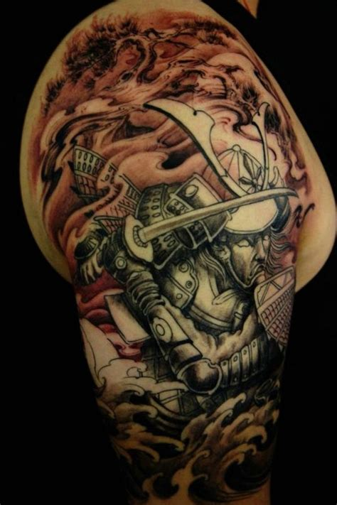 samurai warrior sleeve tattoos designs samurai half sleeve ideas for sleeve tattoos