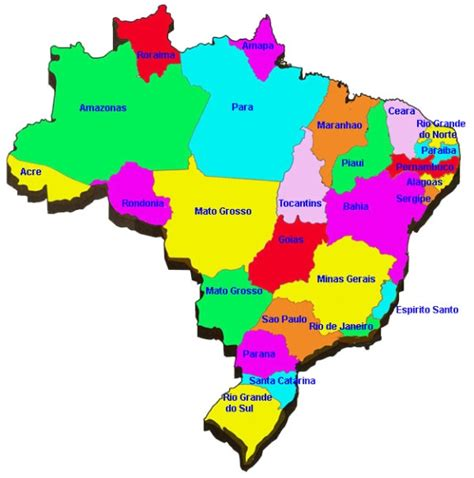 map of brazil with states map of brazil states map of statesbrazil my