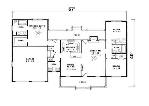 Ranch Floor Plans With Two Master Suites by Simple Ranch House Plan Ranch House Luxury Log Home