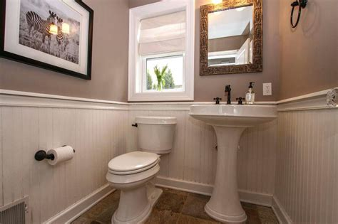 small powder room ideas enchanting wainscoting simple