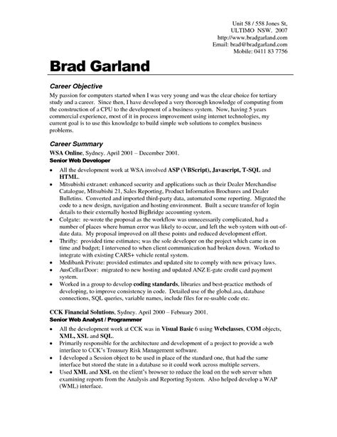 career objective sample resumes career objective resume examples for example your training