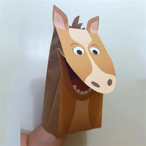 Paper Bag Fullcolor paper bag puppet color downloadable pdf