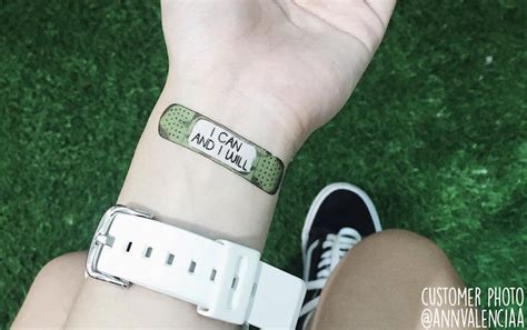 band aid tattoo motivational temporary tattoos are like band aids for the soul