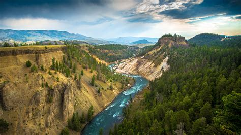 yellowstone landscape landscape yellowstone national park river wallpapers hd
