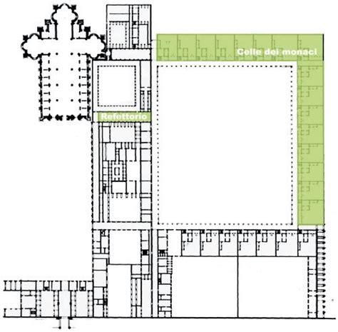 pianta di pavia sono evidenziati gli ambienti con le vetrateprecedenti al 1451