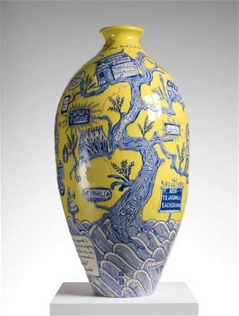 Grayson Perry Vase by Grayson Perry Mixes Teddy Ancient Relics In